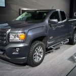 2015 GMC Canyon front three quarters at NAIAS 2014
