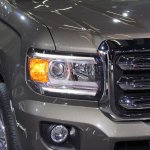 2015 GMC Canyon headlamp upclose at NAIAS 2014