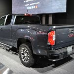 2015 GMC Canyon rear three quarters at NAIAS 2014