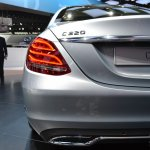 2015 Mercedes-Benz C Class at 2014 NAIAS exhaust