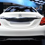 2015 Mercedes-Benz C Class at 2014 NAIAS rear 2