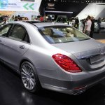 2015 Mercedes-Benz S600 at 2014 NAIAS rear quarter