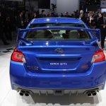 2015 Subaru WRX STi rear at NAIAS 2014