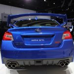 2015 Subaru WRX STi rear fascia at NAIAS 2014