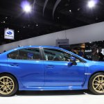 2015 Subaru WRX STi side view at NAIAS 2014
