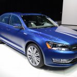 2015 VW Passat Bluemotion Concept at 2014 NAIAS front three quarter