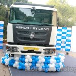 Ashok Leyland 2523 Tipper front at the unveiling