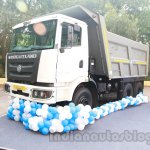 Ashok Leyland 2523 Tipper front three quarters at the unveiling