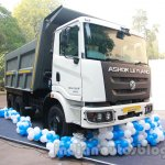Ashok Leyland 2523 Tipper front three quarters left at the unveiling