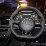 Audi RS 7 India Launch images steering wheel