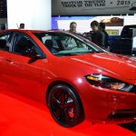 Dodge Dart Blacktop Package front three quarters at NAIAS 2014