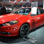 Dodge Dart Blacktop Package front three quarters left at NAIAS 2014