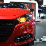 Dodge Dart Blacktop Package headlight at NAIAS 2014