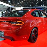 Dodge Dart Blacktop Package rear three quarters at NAIAS 2014