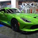 Dodge Viper Stryker Green front three quarter at NAIAS 2014