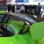 Dodge Viper Stryker Green rear spoiler at NAIAS 2014