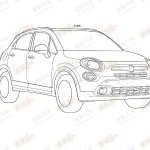 Fiat 500X patent front three quarters