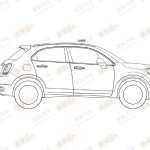 Fiat 500X patent side view
