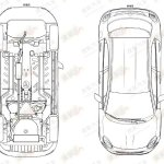 Fiat 500X patent top and bottom view