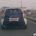 Fiat Punto Avventure caught on test in India