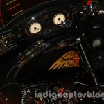Indian Chieftain dashboard and fuel tank from the launch in India
