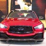 Infiniti Q50 Eau Rouge front at NAIAS 2014