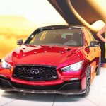 Infiniti Q50 Eau Rouge front three quarters at NAIAS 2014