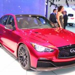 Infiniti Q50 Eau Rouge front three quarters left at NAIAS 2014