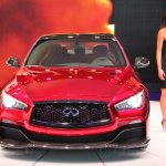 Infiniti Q50 Eau Rouge front view at NAIAS 2014