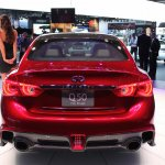 Infiniti Q50 Eau Rouge rear at NAIAS 2014