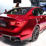 Infiniti Q50 Eau Rouge rear three quarter left at NAIAS 2014
