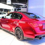 Infiniti Q50 Eau Rouge rear three quarter right at NAIAS 2014
