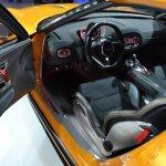 Kia GT4 Stinger concept at 2014 NAIAS door