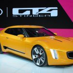 Kia GT4 Stinger concept at 2014 NAIAS front right quarter