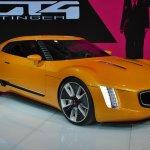 Kia GT4 Stinger concept at 2014 NAIAS front three quarters