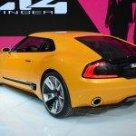 Kia GT4 Stinger concept at 2014 NAIAS rear quarter 2