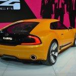 Kia GT4 Stinger concept at 2014 NAIAS rear quarter