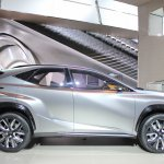 Lexus LF-NX Concept side at NAIAS 2014