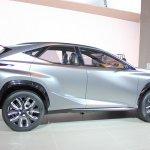 Lexus LF-NX Concept side profile at NAIAS 2014