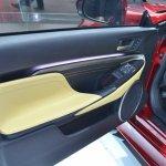 Lexus RC Coupe door panel at NAIAS 2014