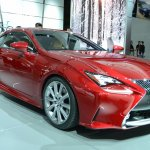 Lexus RC Coupe front three quarter at NAIAS 2014