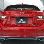 Lexus RC Coupe rear at NAIAS 2014