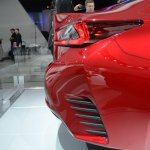 Lexus RC Coupe rear overhang at NAIAS 2014