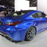 Lexus RC F rear three quarters right at NAIAS 2014