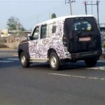 Mahindra Scorpio Facelift spied Gujarat rear