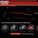 Maruti Celerio website screen capture
