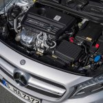 Mercedes GLA 45 AMG press shots engine