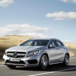 Mercedes GLA 45 AMG press shots front three quarter