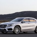 Mercedes GLA 45 AMG press shots front three quarters