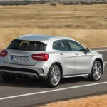 Mercedes GLA 45 AMG press shots rear quarter